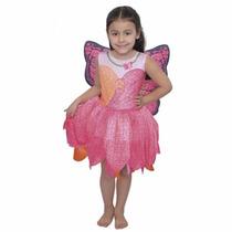 Disfraz Barbie Mariposa Y La Princesa De Las Hadas Talles