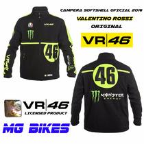 Campera Softshell Original Valentino Rossi Vr46 En Mg Bikes