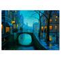 Ciudad Vintage En Tela Canvas De 100x70 Cm