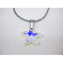 Dije Mujer Estrella - Cristales Swarovski + Cadena. Nuevo!