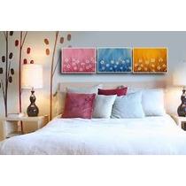Cuadro Decorativo - Pintado A Mano-diseño Original- 120x30cm