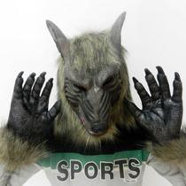 Máscara Hombre Lobohorror Lobo Con Garras Disfraz Latex