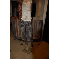 Rosh Pantalon De Jean Con Estampado Print Promo