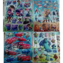 10 Planchas Stickers 20x25 Cars Autos Monster Inc Dragonball