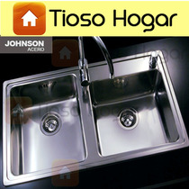 Pileta Bacha Acero Johnson Quadra Q 085 A Recta Cocina Doble