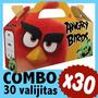 Angry Birds Cajita Valijita Bolsita Souvenir Combo X 30