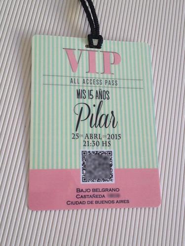 372fe6273108 Invitaciones 15 Años Tarjetas Credenciales Vip X10 en venta en Villa ...