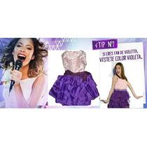 Disfraz Violetta!! Con Bolsita Fliselina+accesorio