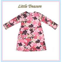 Vestido Gamuzado Abrigo 2 Colores 2-6 Años. Little Treasure.