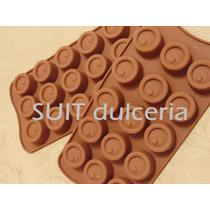 Molde Silicona Circulo Doble-bombon-chocolate-jabon-hielo