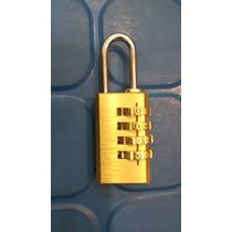 Candado Bronce Combinacion 4 Digitos Experto Valija Lockers