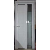 Puerta Exterior Aluminio 80x200 Con Vidrio Reforzada