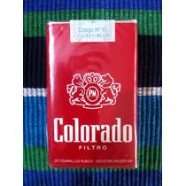 Paquete Cigarrillos Colorado 20 Cerrado Antiguo