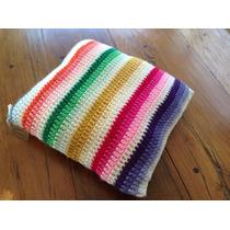Almohadon Tejido A Mano A Crochet 30 * 30 Cm Multicolor