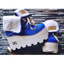 Zapatos Con Corderito Y Plataforma Talles Del 35 Al 38