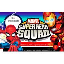 Kit Imprimible Escuadron De Super Heroes+candy