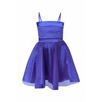 Vestido De Nena De Organza Y Encaje, N-0029