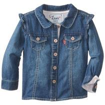 Ropa Para Bebe Nena Levi´s Camisa De Jean Manga Larga Volado