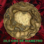 Dragon Plato Chino De Bronce Macizo De 29 Cms De Diametro