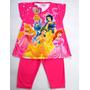 Pijama Conjunto Remera Y Capri Disney Princesas 2-4-6 Años
