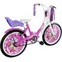 Bicicleta De Nena R20 Carolina Full Necchi