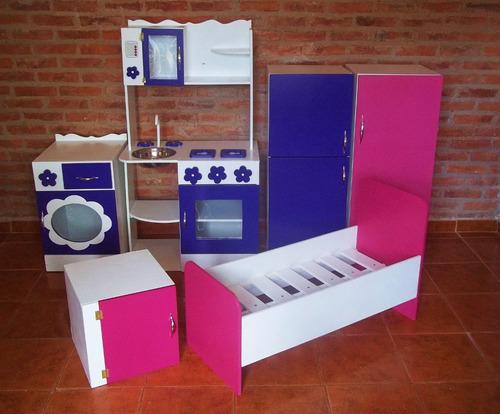 Cocina infantil de juguete madera cocinita casitas muebles for Cocina de madera juguete