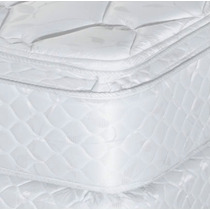 Sommier Y Colchon 140 X190 X 37cm Doble Pillow Top Almohadas