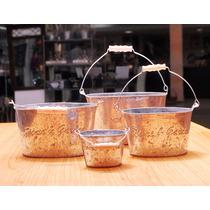 Set 4 Canastos Galvanizados Tipo Rústicos - Sheshu Bazar
