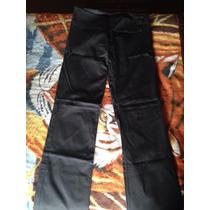 Pantalón Negro De Gabardina