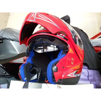 Casco All Top Rebatible Doble Visor Xxl Solo En Ruta 3 Motos