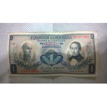 Billete Antiguo 1 Peso Oro Colombia Julio Año 1967