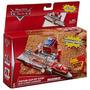 Disney Cars: Pista Con Lanzador Pit Stop Copa Piston Mattel