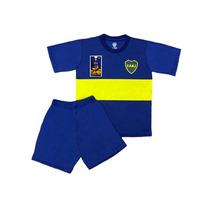 Equipo Pijama Boca Juniors Oficial Remera Club Niños Futbol