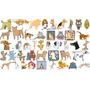 Mega Coleccion Vectores De Animales Estampado Serigrafia