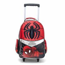 Mochila Spiderman Carro 18 La Mas Grande Hombre Araña Marvel