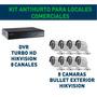 Kit Cctv Hikvision Dvr 8 Canales + 8 Cámaras Turbo Hd! Gtía!