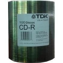 Cd-r Tdk Printable Inkjet Full Print Bulk X100u 80min