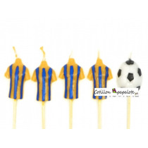 5 Velas Rosario Central Fútbol Camiseta Pelota Partido