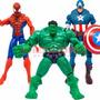 Vengadores Avengers Spiderman Capitan America Hulk Articulad