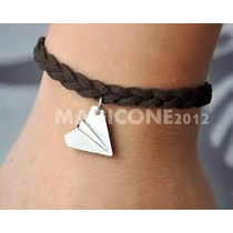 Pulsera Avion Papel Harry / Cordón Negro - One Direction 1d
