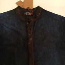 Saquito/camisa De Jeans Color Azul Oscuro De Kosiuko S/m