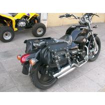 Alforjas Moto Chopper Custom Cuero 45 Litros