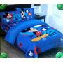 Acolchado Disney Mickey Incluye Sabanas 1 Plaza Y 1/2