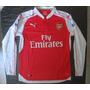Camiseta Titular Arsenal Manga Larga 2015 2016 Alexi Sanchez