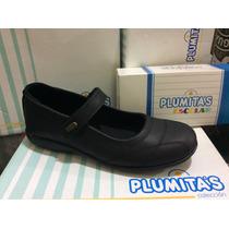 Plumitas Zapato Cuero Niña Guillermina Base Goma 34-40