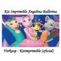 Kit Imprimible Angelina Ballerina Invitaciones Souvenirs Ar