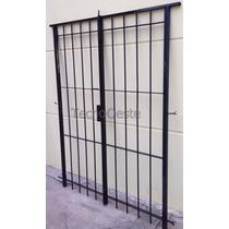 Puerta Reja Seguridad Para 180x200 Hierro 12 Marco Cerradura