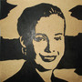 Eva Perón Cuadro De Madera Tallado