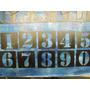 Plantillas_ Stencil Para Pintar Abc Letras Y Numeros 3 Cms