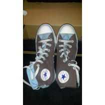 Zapatillas All Star Converse Botitas Celestes. Usadas